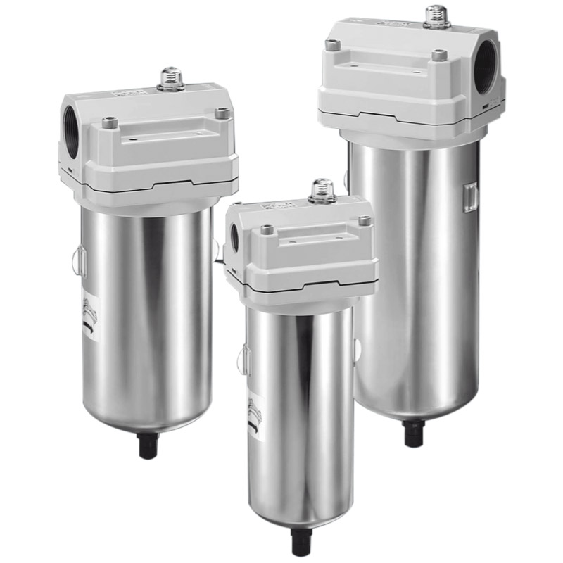 Air Preparation Filters (AFF, AM, and AMD Series)